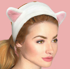 Cat Headband Ears Ladies Furry Cute Fancy dress Party Kitty Makeup ... d67c3b719d8