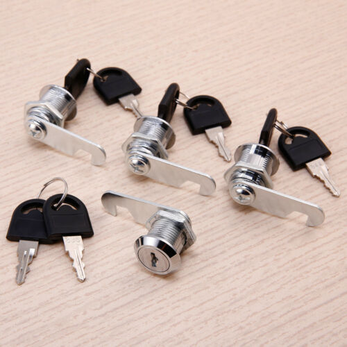 4x UK Cam Lock Door Cabinet Mailbox Drawer Cupboard Locker 16mm 20//25mm 8 Keys