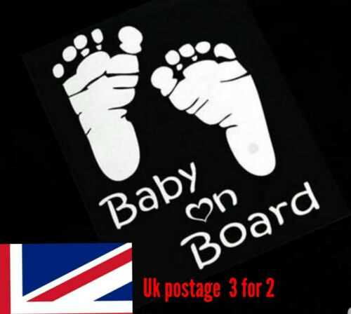 Baby On Board Funny Car Child Children Window Bumper Sticker Vinyl Decal 3 for 2