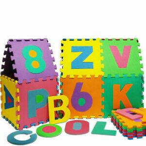 Monzana Alphabet et Chiffres 32x32cm Puzzle Tapis 86 Pièces