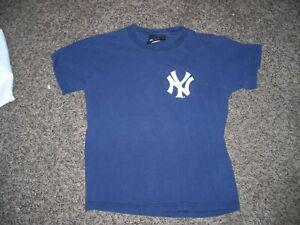 MLB, New York Yankees, team logo tee, youth Medium, vg