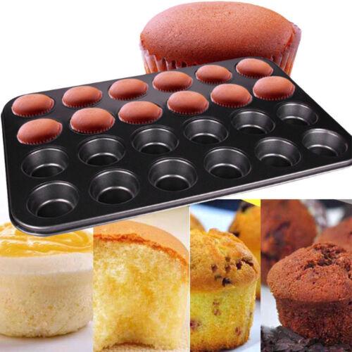 Non Stick 24 Mini Cupcake Baking Pan Tray Tin Cup Cake Yorkshire Pudding Muffin