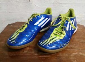 factory price c1214 ea934 Image is loading Adidas-F10-Men-039-s-Neon-Blue-amp-