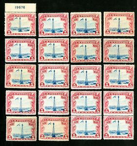 US-Stamps-C11-F-VF-Lot-of-20-OG-NH-Scott-Value-200-00