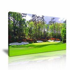 Augusta National Golf Club Amen Corner LONA pared arte 60x30cm/24x12 pulgadas