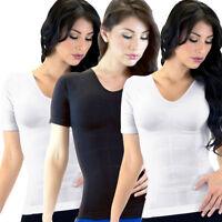 2 Camisetas Hot Power Abs Woman Elegance Redu Slimming T-shirt Shaper Slim