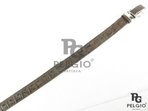 "PELGIO Genuine Crocodile Alligator Backbone Skin Leather Men Belt 46/"" Long Brown"