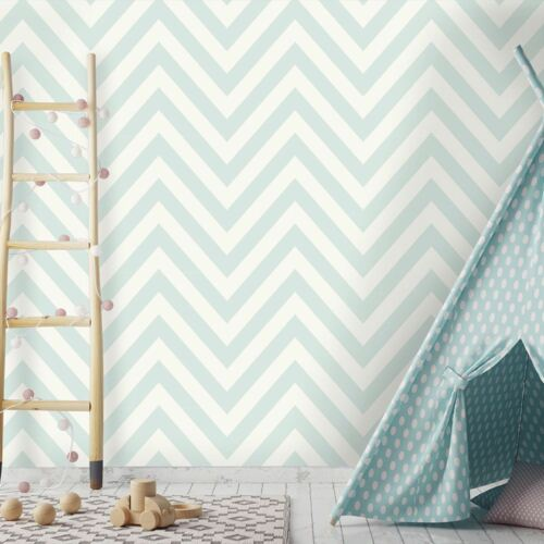 Holden Chevron Striped Pattern Childrens Wallpaper Pastel Stripe Kids 12570