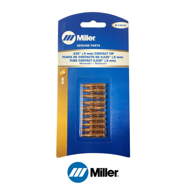 10-pk T-M035 .035 MIG Welding Contact Tips for Miller