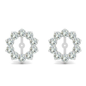 Image Is Loading 2 Carat G H Si2 Round Diamond Solitaire Stud