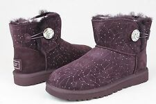 ugg australia women's mini bailey button bling constellation suede boot