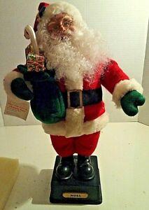 VINTAGE-NOEL-SANTA-SMILE-IND-LTD-1990-PLAYS-VARIOUS-CHRISTMAS-CAROLS