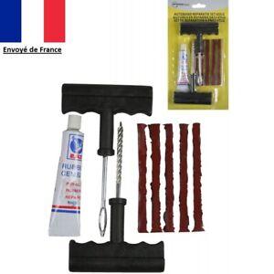9pcs-Kit-de-Reparation-Pneu-Tubeless-Voiture-Moto-Auto-Crevaison-5X-Meche-Neuf