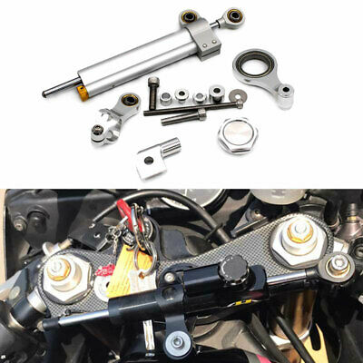 Three T Motorcycle Steering Damper Stabilizer Control /& Bracket Mount Kit Combo Full Set CNC Aluminum Fit for Yamaha R6 R1 2006-2015