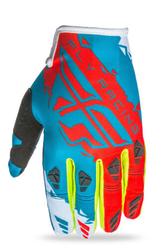 Dark Teal//Red FLY RACING MX Motocross MTB BMX 2017 KINETIC Gloves Choose Size