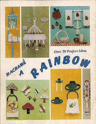 Over 25 Patterns Craft Book #PD1121 Macrame Things in Rings