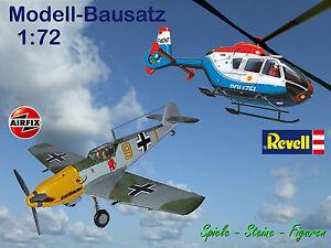 AEROPLANO-ELICOTTERO-MODELLO-bausatz-Revell-EC-135-AIRFIX-MESSERSCHMITT-BF109E