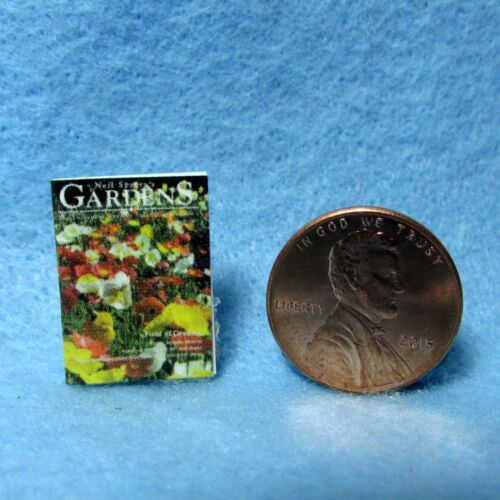 Dollhouse Miniature Replica of GARDENS Magazine ~ Cover Only