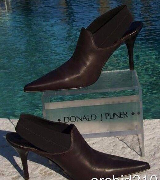 Donald Pliner Metallic Leather Boot shoes New Satin Elastic Sling Signature