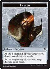 Sarkhan EMBLEM TOKEN CARD (12/13) NM Khans of Tarkir MTG Magic Dragonspeaker