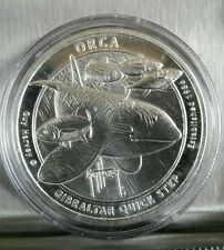 1 oz .999 silver proof like Orca Whale Guy Harvey sport fishing 2016 Gibraltar