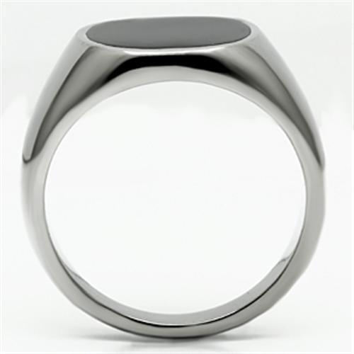 Para Hombre Onyx Anillo de plata de acero inoxidable estampada Signet Pinky Elegante Clásico 595