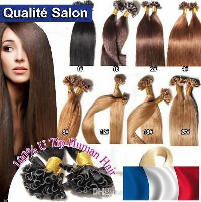 Steady 50/100/150 Extensions Cheveux Pose A Chaud Naturels Remy 49-60cm 0,5g-1g Pro Hair Extensions Lustrous Surface