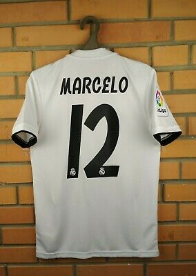 hot sales fccb2 13c71 Details about Marcelo Real Madrid jersey XS 2018 2019 home shirt DH3372  soccer football Adidas