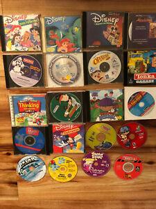 Lot Of 20 Vintage Old Computer Kid Games, Program, Disney Tonal Garage Reader