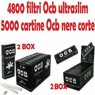 4800 OCB FILTRI ULTRASLIM 5000 OCB CARTINE NERE CORTE DOPPIE PREMIUM
