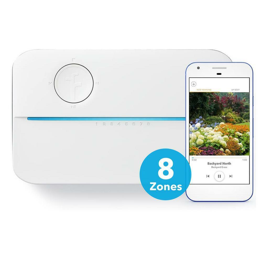 Rachio Sprinkler Controller 8-Zone 100-Programs Digital Timer Easy-to-Use White