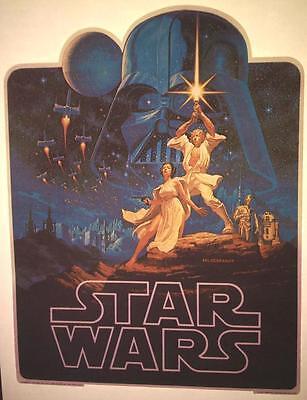 """DARTH VADER 1977 VINTAGE ORIGINAL /""""FACTORS/"""" IRON-ON//TRANSFER RARE! STAR WARS"""