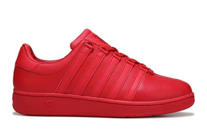 K Swiss Classic VN 03343-654-M Leather Red Mens Fashion shoes Sneakers Sizes
