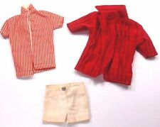Barbie Doll Clothes Unbranded Ken Beach Set Lot 3 - Shorts 2 Shirts Vtg.