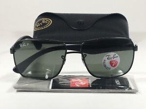 c0bcb6277e0 Ray-Ban Men s Polarized Navigator Sunglasses RB3516 Matte Black ...