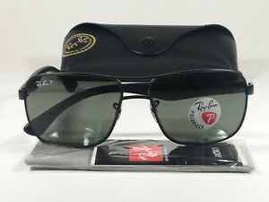 df5fffa7821 Ray-Ban Men s Polarized Navigator Sunglasses RB3516 Matte Black ...