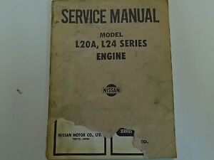 nissan model l20a l24 series engine service manual cover damaged