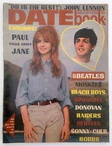 Datebook Magazine Dec 1966 The Beatles Paul McCartney and Jane Teen Pop Culture