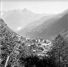 SUISSE c. 1948 - Panorama  Vallée  Stalden  - Négatif 6 x 6 - Sui 219