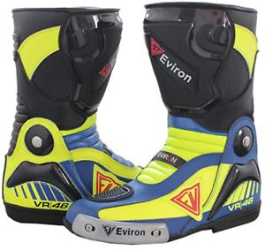 Eviron-Moto-Scarpe-Stivali-lunghi-moto-Scarpe-Stivali-Stivali-Moto