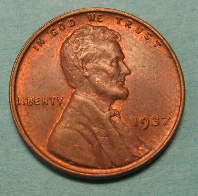 1937 Lincoln Wheat Cent in the AU Range Nice Coins DUTCH AUCTION