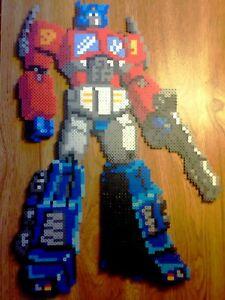 Details About Transformers Optimus Prime Perler Bead Pixel Art