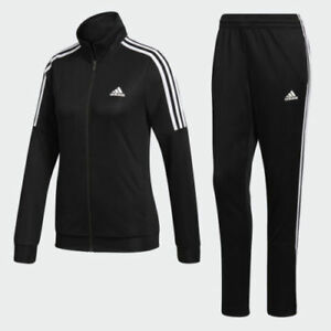 new design pretty cheap where to buy Details zu Neu ADIDAS DAMEN BK4695 Tiro Trainingsanzug Schwarz Weiß Jacke &  Hose Satz