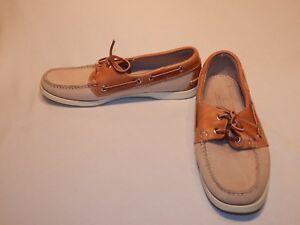 9cb707263f4 Sebago Docksides Cream   Tan Leather Boat Shoes Women s Sz 10 M Made ...