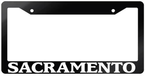 Glossy Black License Plate Frame SACRAMENTO Auto Accessory 2623