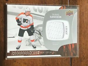 C2433-TRAVIS-SANHEIM-2017-18-UPPER-DECK-RC-MATERIALS-RELIC