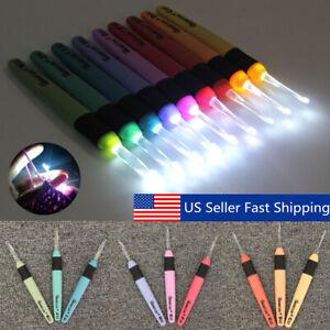 9-Sizes-LED-Crochet-Hooks-Set-Light-up-Knitting-Needles-Weave-Sewing-Tools