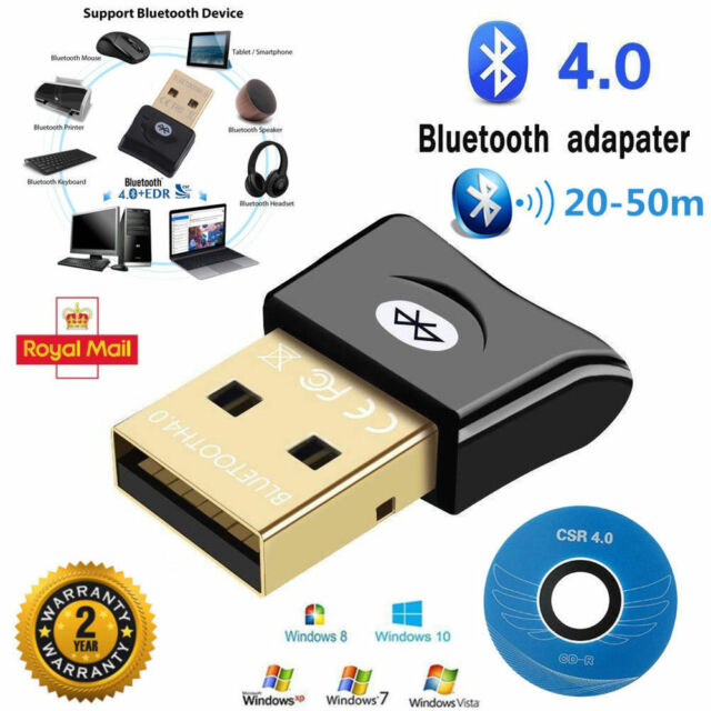 Bluetooth USB Stick Adapter CSR 4.0 Dongle für Windows XP/Vist/7/8/10 High Speed