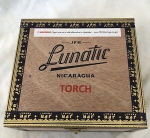 Cigar-BOX-Pazzo-Torcia-MAD-FOLK-vuoto-in-Legno-Scatola-Di-Immagazzinaggio-Stash-Crafts