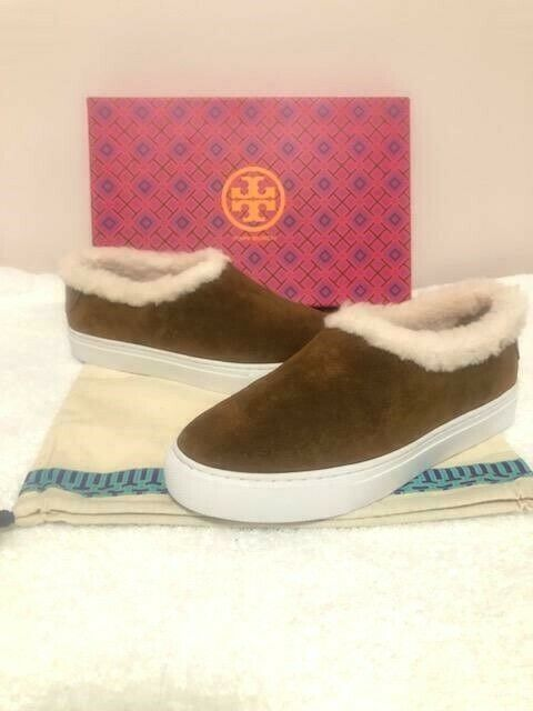 NIB Tory Burch Miller Genuine Shearling Lined Suede baskets flats flats flats chaussures 7 M 2821ea